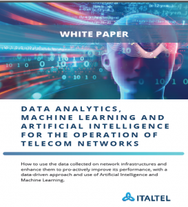 Data analytics, machine learning and Artifical Intelligence for the operations of telecom networks