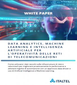 Data analytics, machine learninge, AI per l'operatività delle reti di telecomunicazioni